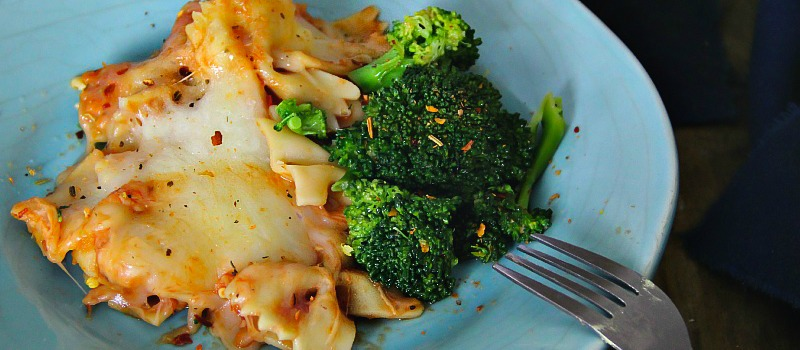 Baked Bow Pasta with Broccoli