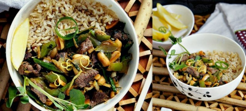 Thai Beef Stir-Fry over Brown Rice
