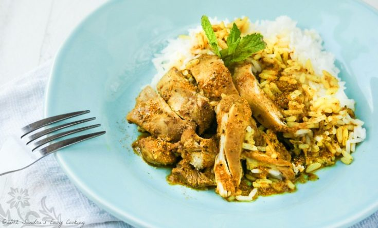 Caribbean Chicken Curry with Rice