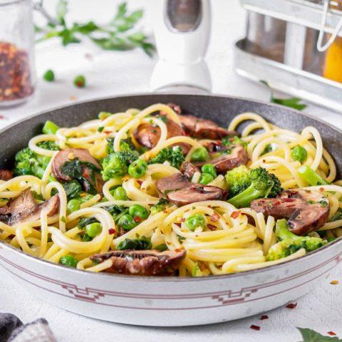 Green Vegetable Summer Spaghetti Recipe