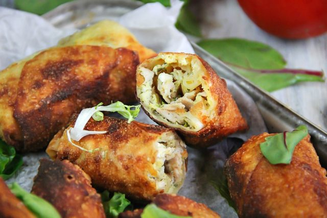 Smoked Turkey and Cheese Fried Egg Rolls