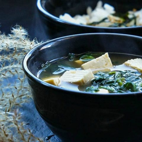 Spinach and Tofu Soup