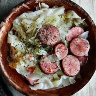 Sauteed Sauerkraut with Smoked Sausage