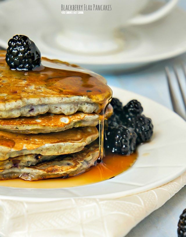 Blackberry Flax Pancakes