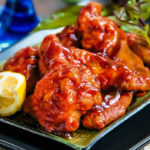Chicken Wings in Honey-Sriracha Sauce