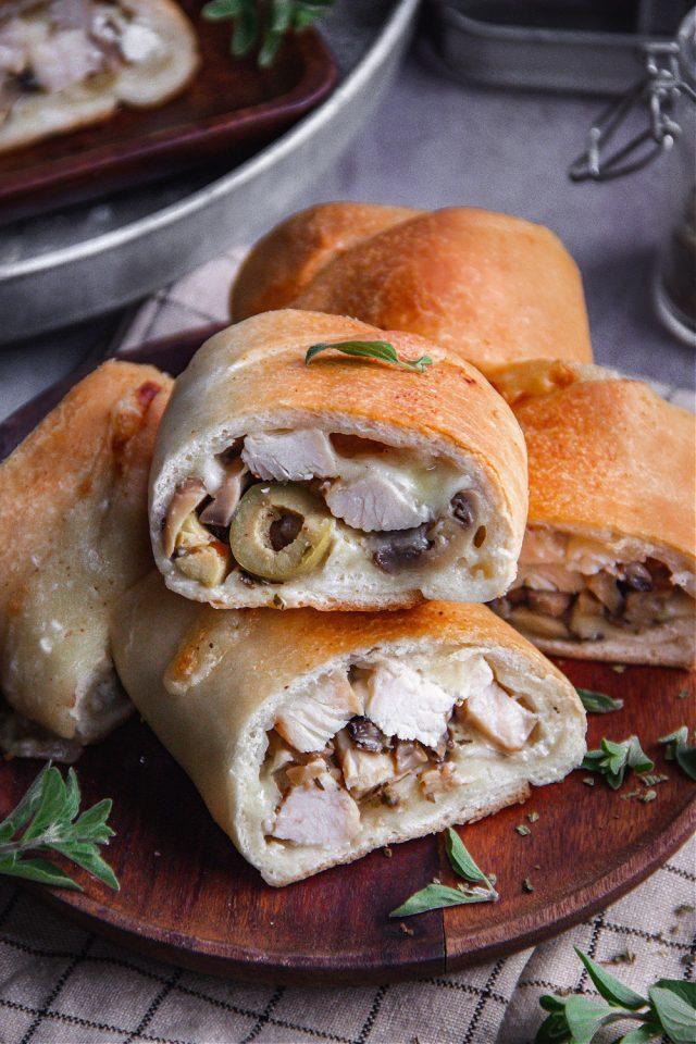 Stromboli with Greek Inspired Chicken