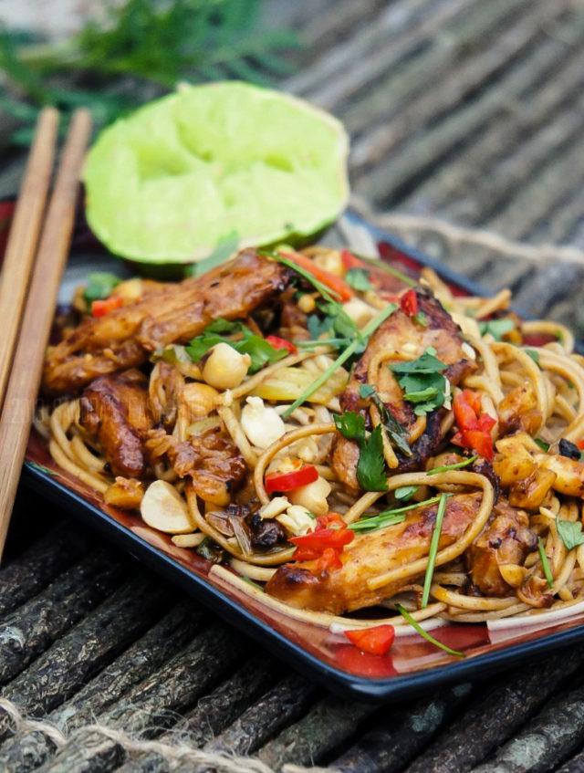Thai Chicken Noodle Stir Fry Recipe