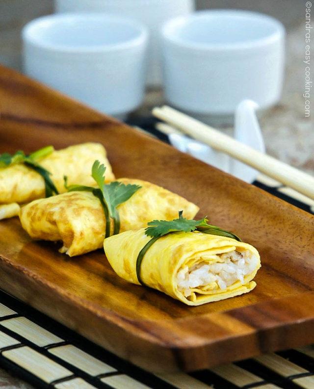Japanese Omelette Parcels or Fuksa Zushi