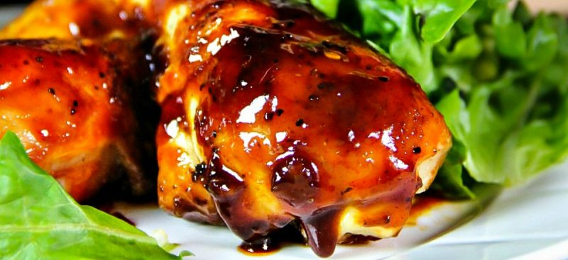 Spicy Sticky Baked Glazed Chicken Drumsticks