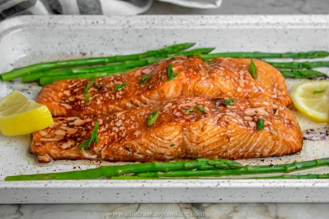 Soy Sauce Marinated Salmon