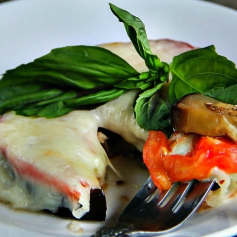 Crustless Eggplant Pizza