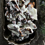 Marbled Chocolate Almond Bark with Sea Salt
