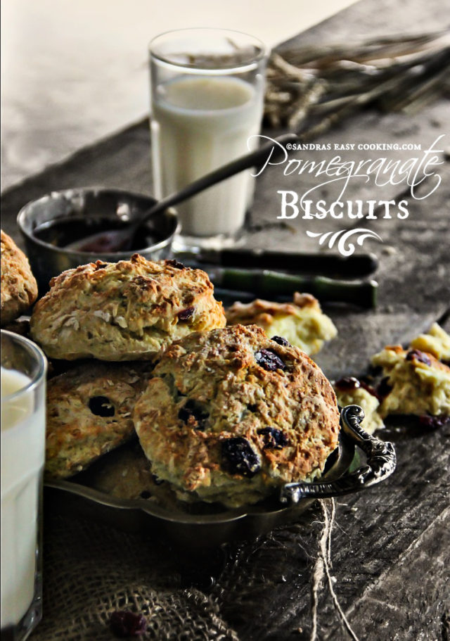 Pomegranate Biscuits