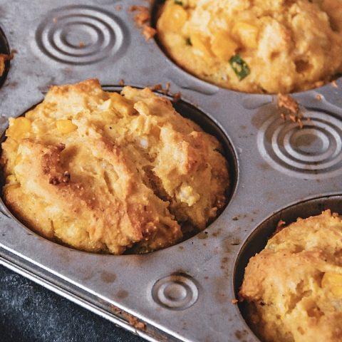 Gluten Free Corn Muffins with Scallions