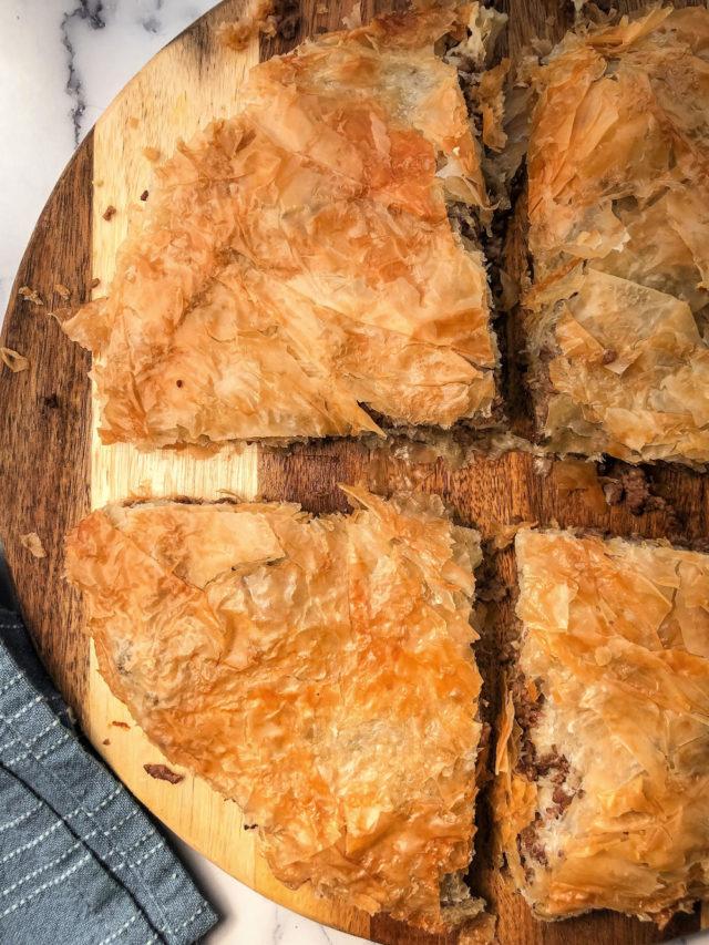 Phyllo Meat Pie Pastry —Bakery Style Burek