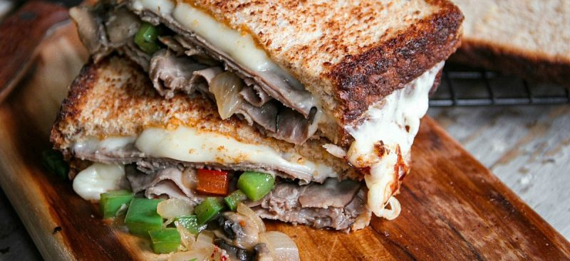 Roasted Beef Grilled Cheese Sandwich