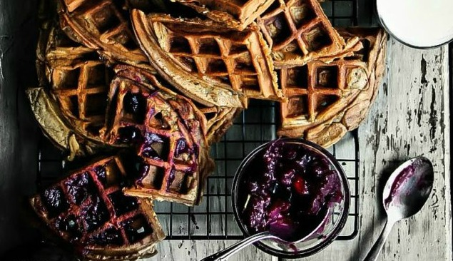 Sweet Potato Cocoa Waffles