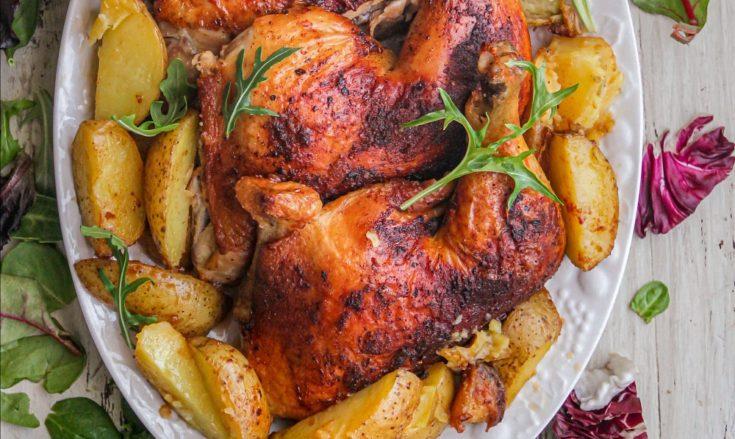 Cajun Chicken over Potatoes