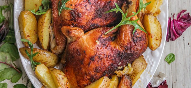 Cajun Chicken over Potatoes