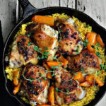 Spanish Chicken over Saffron Rice Recipe
