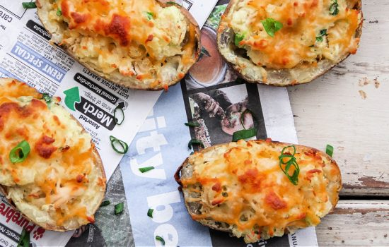 Twice Baked Potatoes with Chicken Recipe