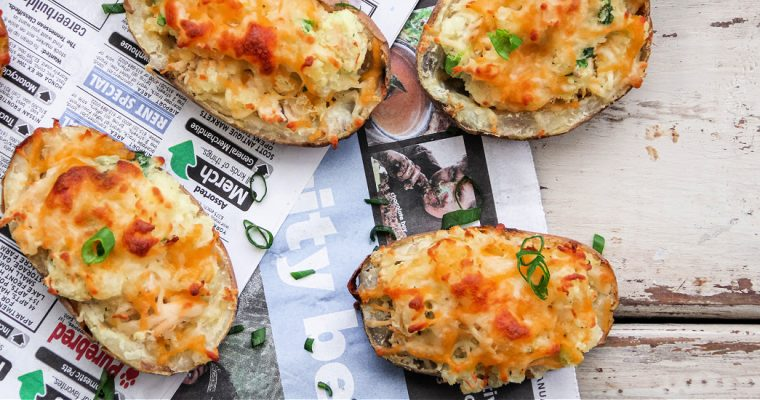 Twice Baked Potatoes with Chicken