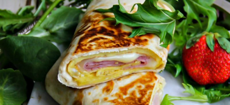 Egg, Cheese and Ham Wrap + video