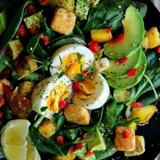 Mixed Greens Salad with Pineapple