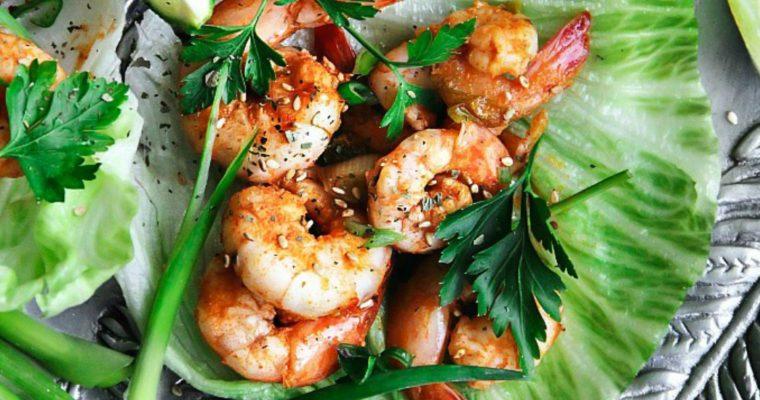 Cajun Shrimp Lettuce Wraps