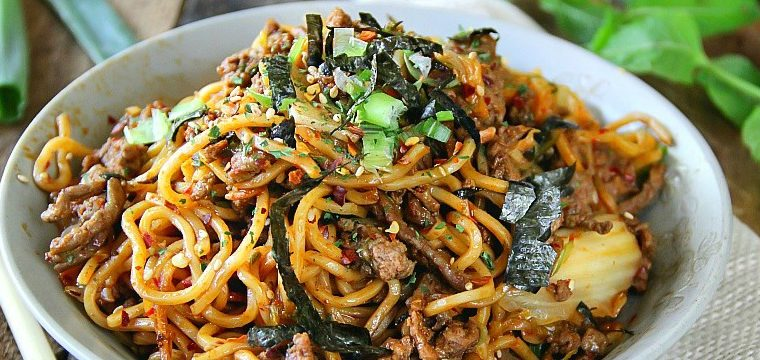 Beef Kimchi Yakisoba – Teriyaki Flavor