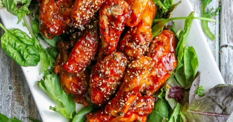 Spicy Baked BBQ Chicken Wings