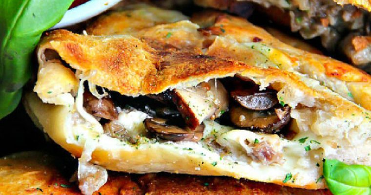 Italian Sausage and Mushroom Calzone