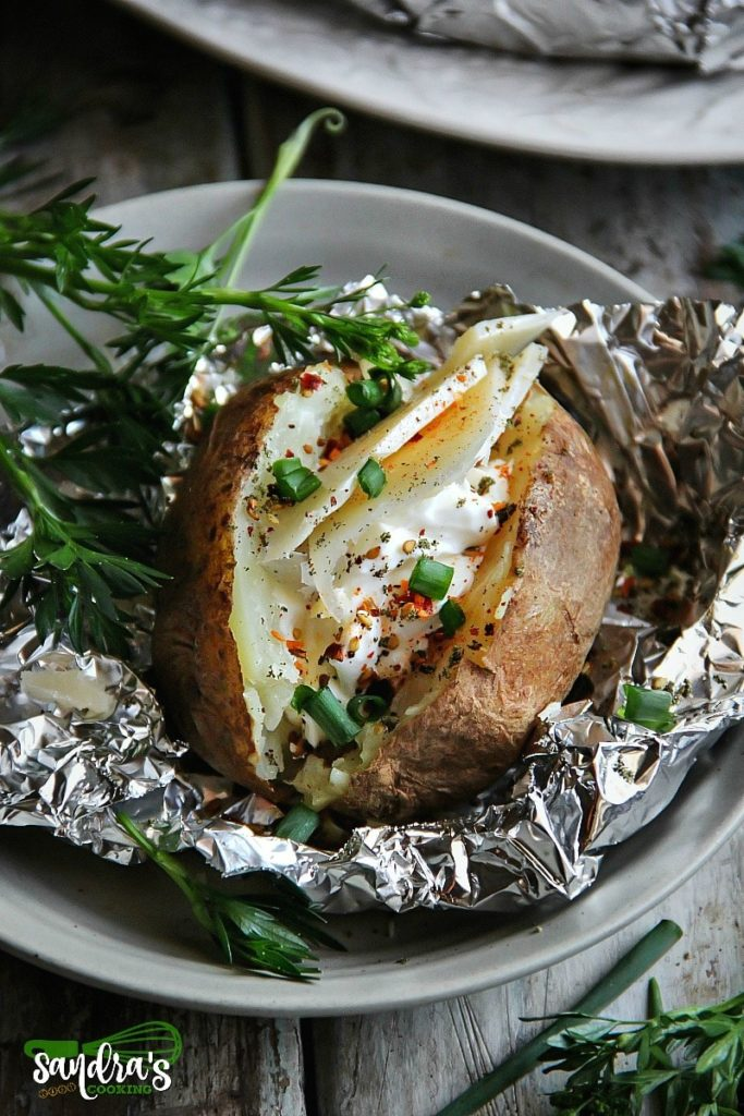 The perfect companion to the grilled food, or just when you crave baked potato. It doesn't require too much work and this is totally doable any time of the year since we can find potatoes year around.