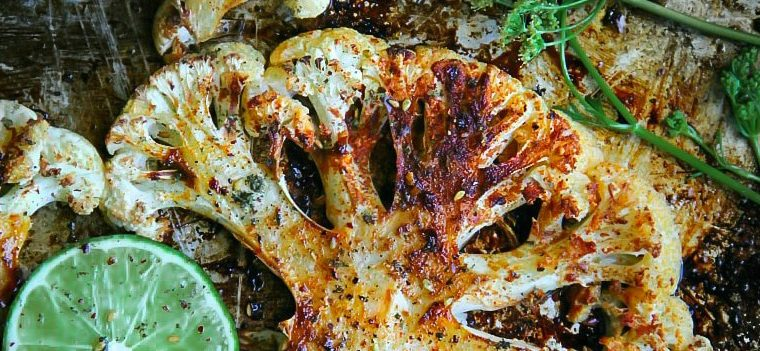 Oven-Roasted Thai Cauliflower Steaks