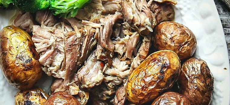 Slow Cooker Pulled Apart Pork