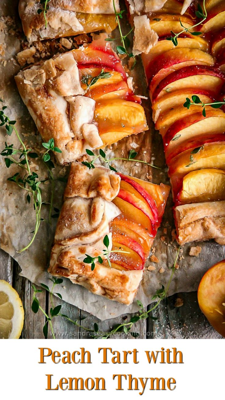 Peach Tart with Lemon Thyme #recipe