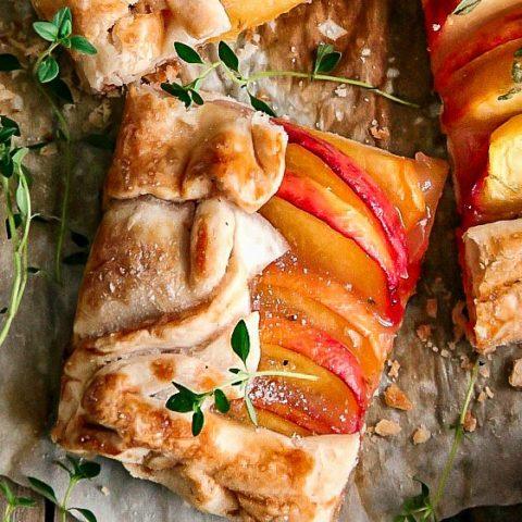 Peach Tart with Lemon Thyme