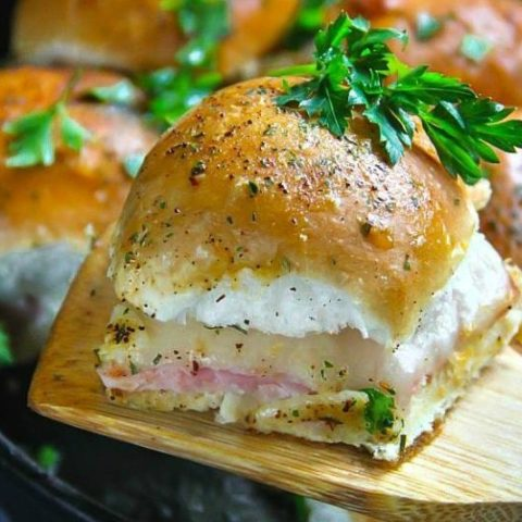 Ham and Cheese Skillet Sliders