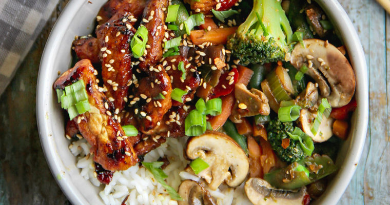 Chicken and Mixed Vegetables Stir Fry