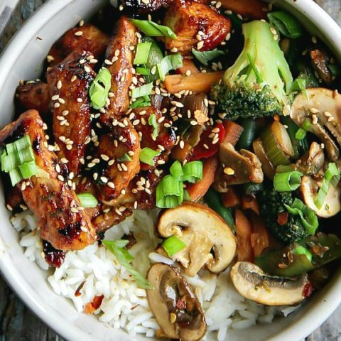 Chicken and Mixed Vegetables Stir-Fry