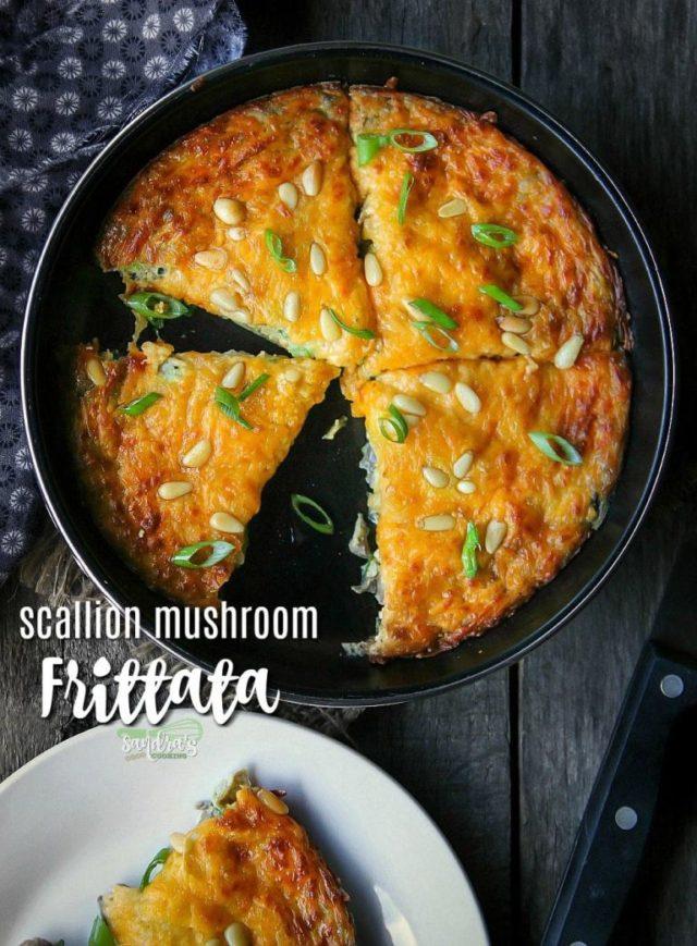 Scallion Mushroom Frittata