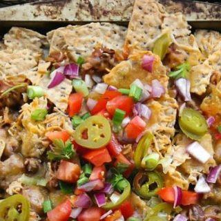 Meatless Chili Nachos