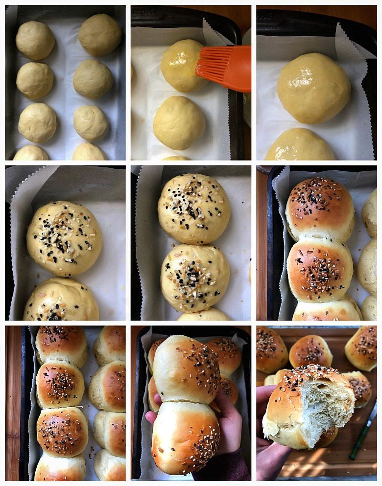 Baking rolls