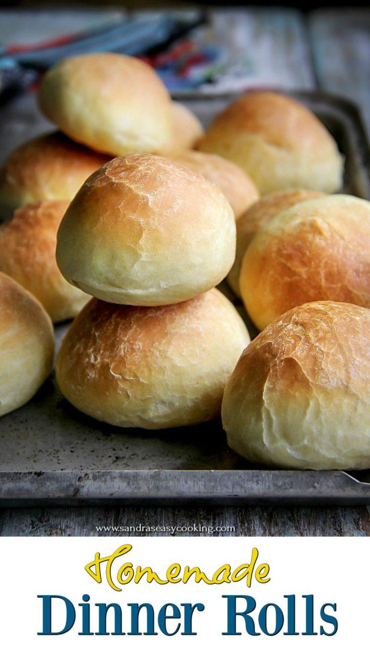 Easy and tasty homemade dinner rolls.