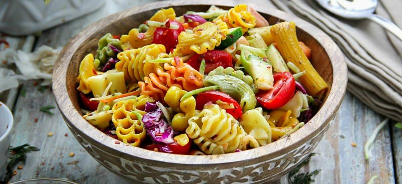 Colorful Pasta Salad with Italian Dressing