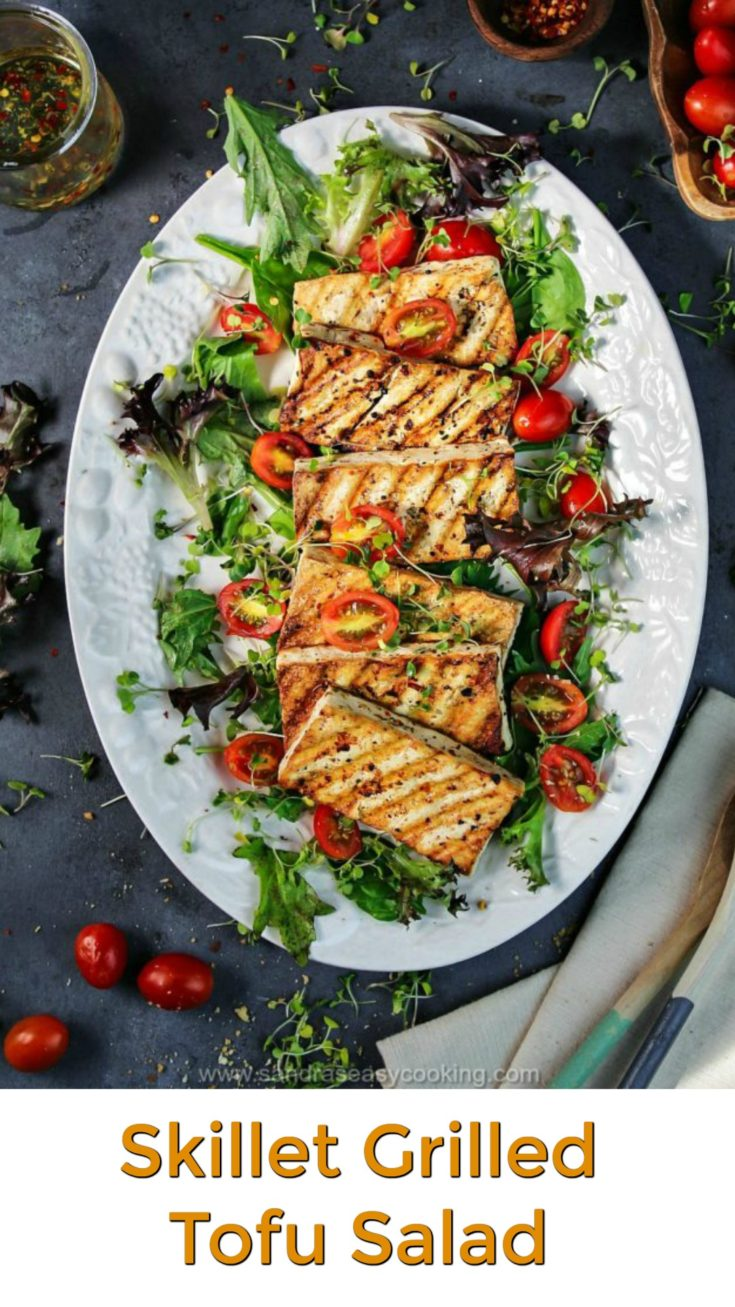 Skillet Grilled Tofu Salad Recipe