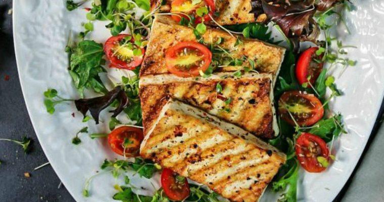 Skillet Grilled Tofu Salad