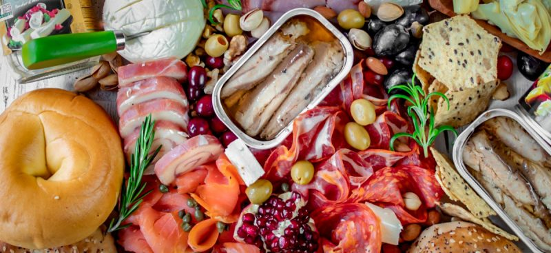Bagel Holiday Party Charcuterie Board
