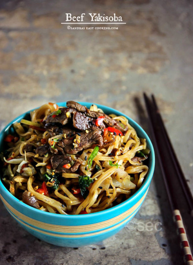 Simple and easy recipe for delicious Beef Yakisoba