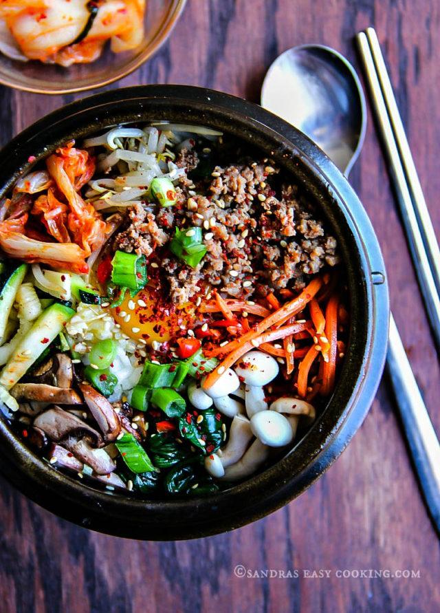 Korean Mixed Rice Bowl Bibimbap Sandra S Easy Cooking